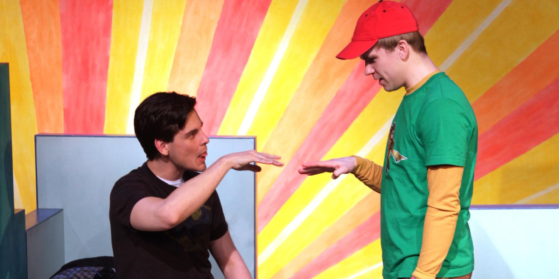 Ryan Bondy & Aaron Stern in Spelling 2-5-5. Photo by Claus Andersen.