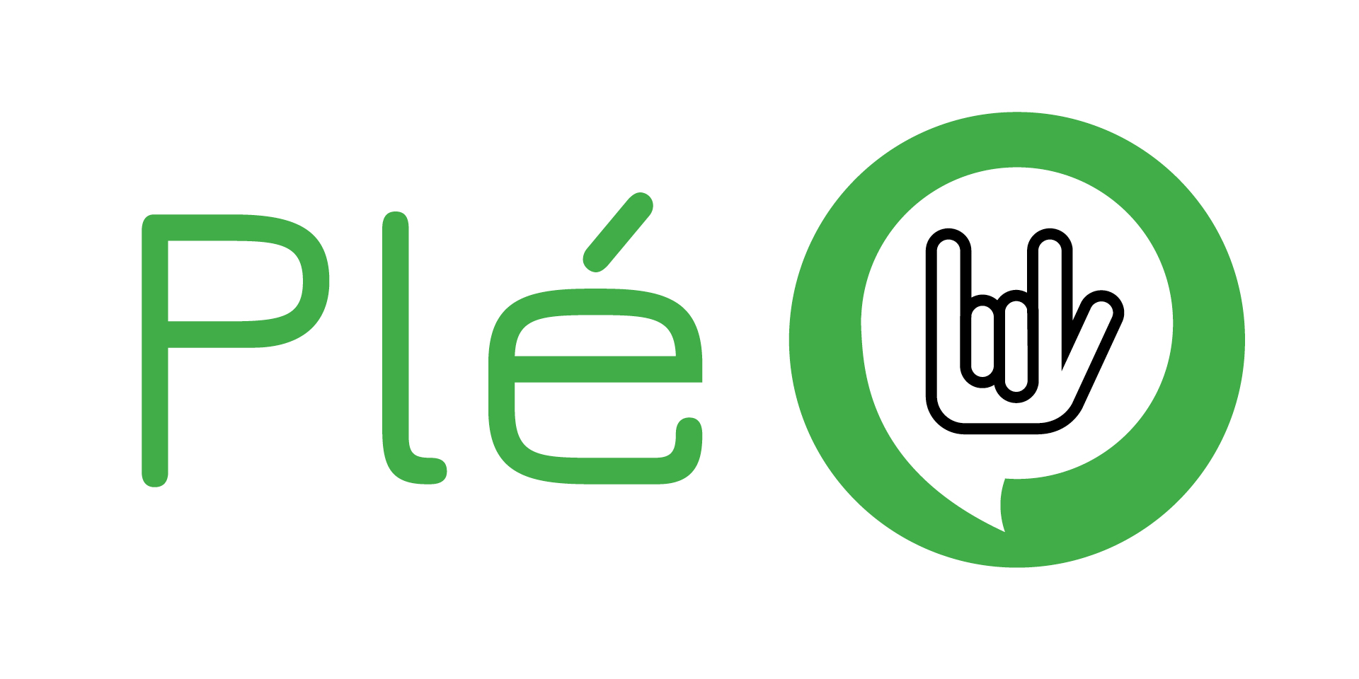 Ple, Icon of hand language in speaking bubble