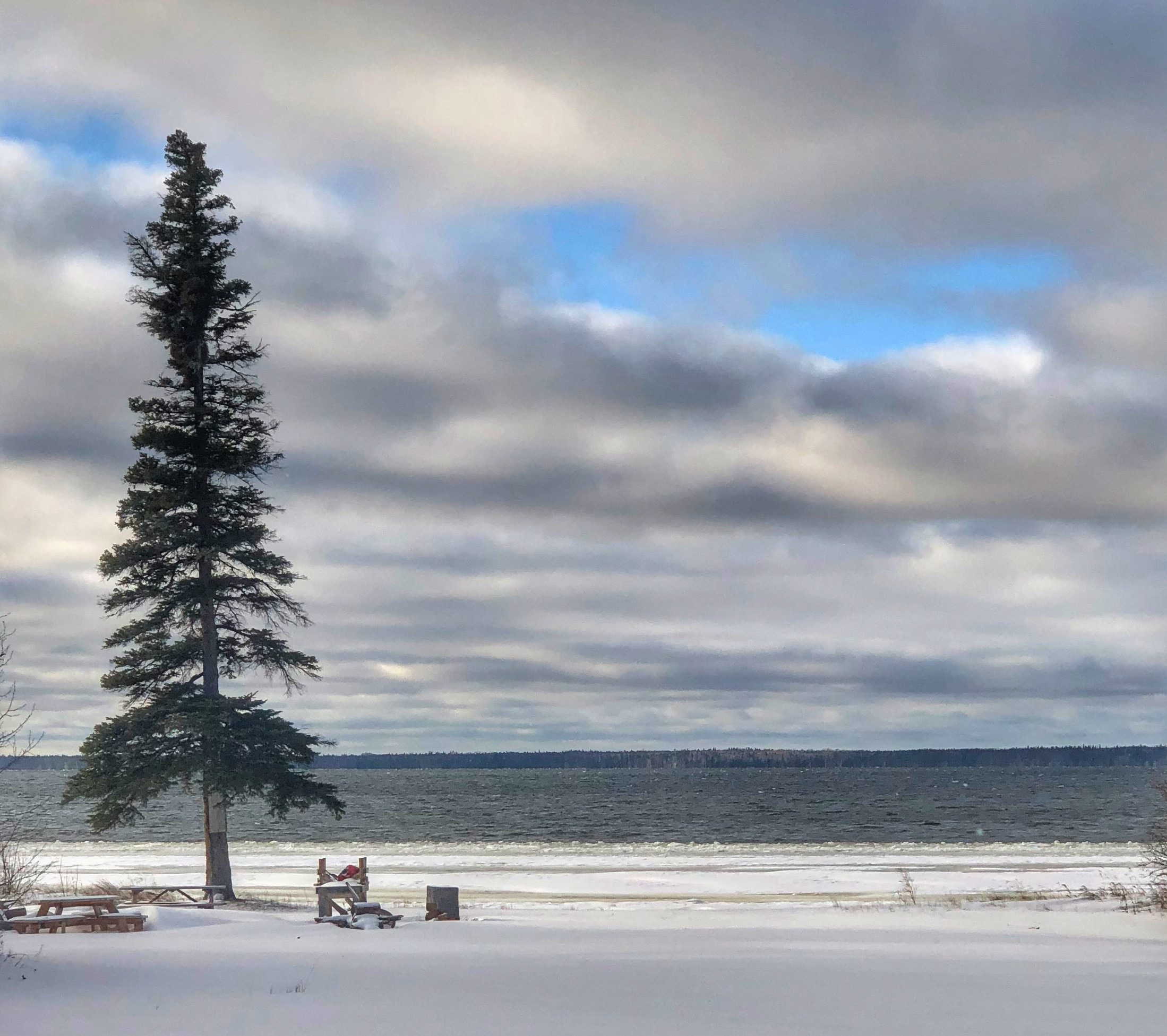 Egg Lake in the winter