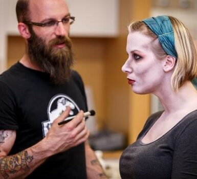 Chris Hadley has been doing makeup since he was 12 years old